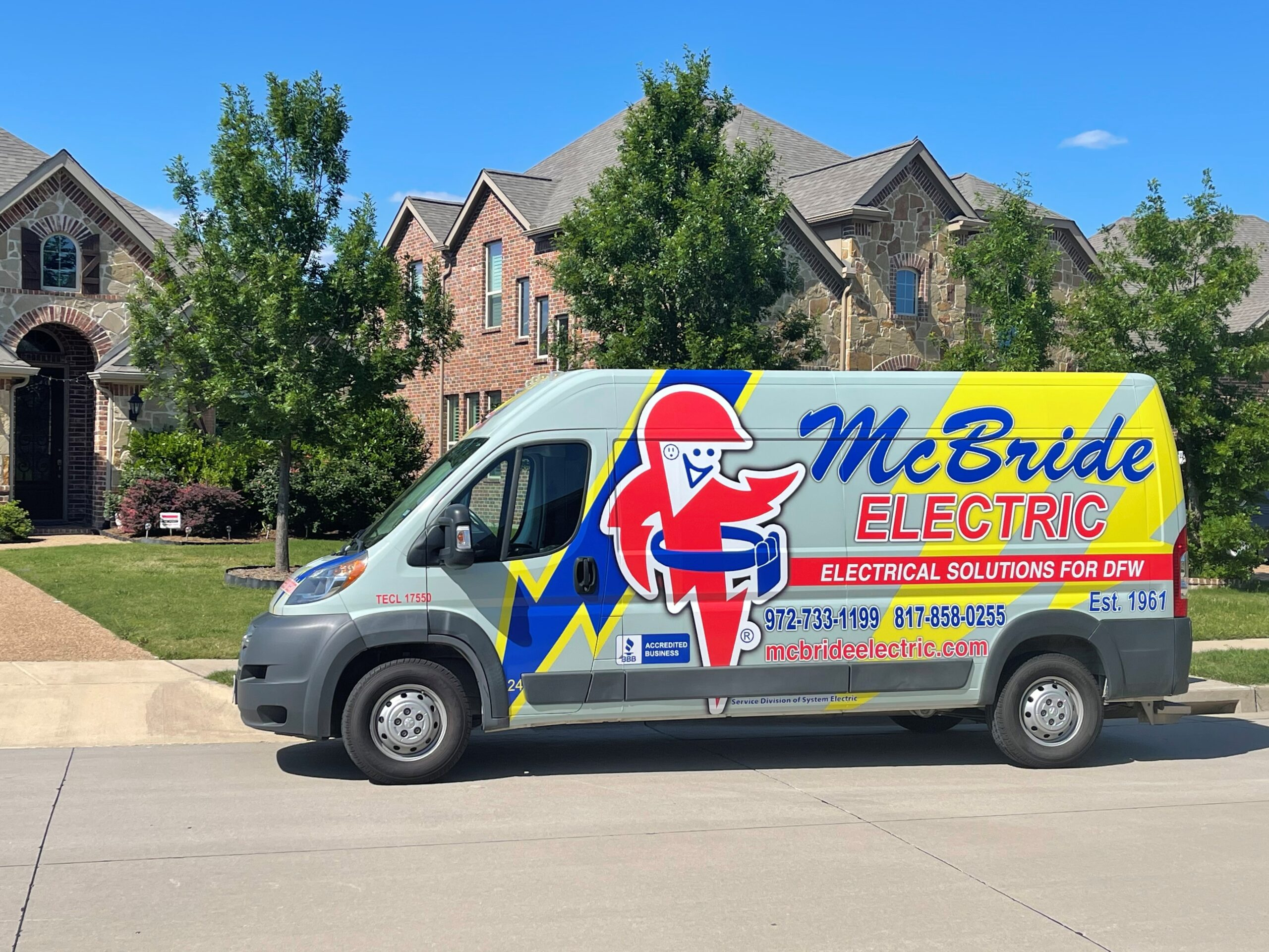 Residential Electric and Lighting Services by McBride Electric Serving North Texas Area including Dallas TX, Plano TX, and Fort Worth TX